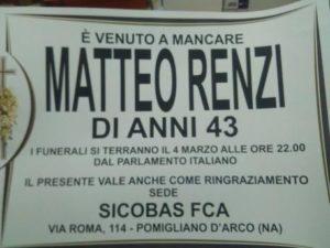 Manifesti contro Matteo Renzi