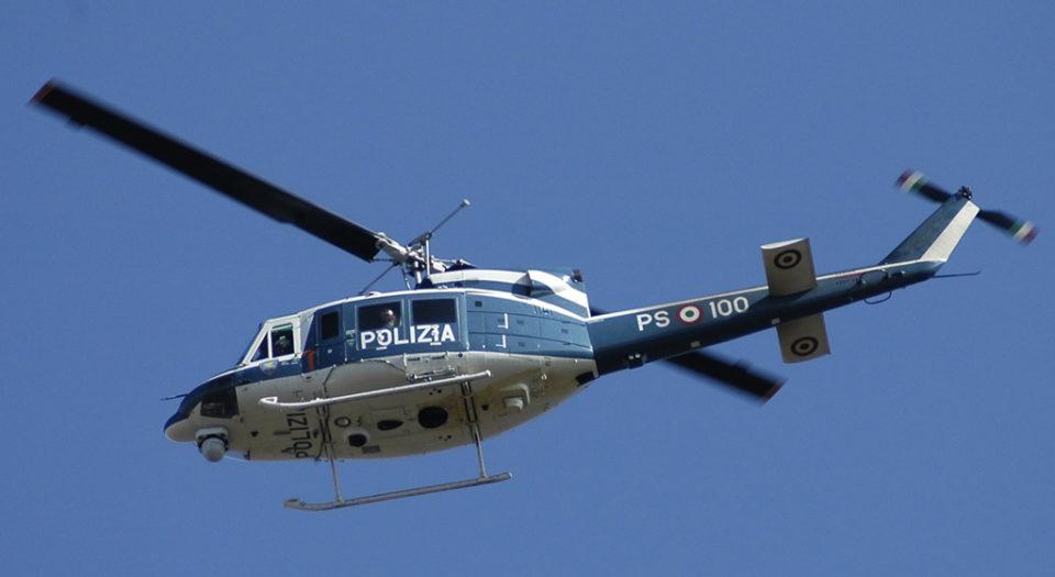 elicottero polizia afragola