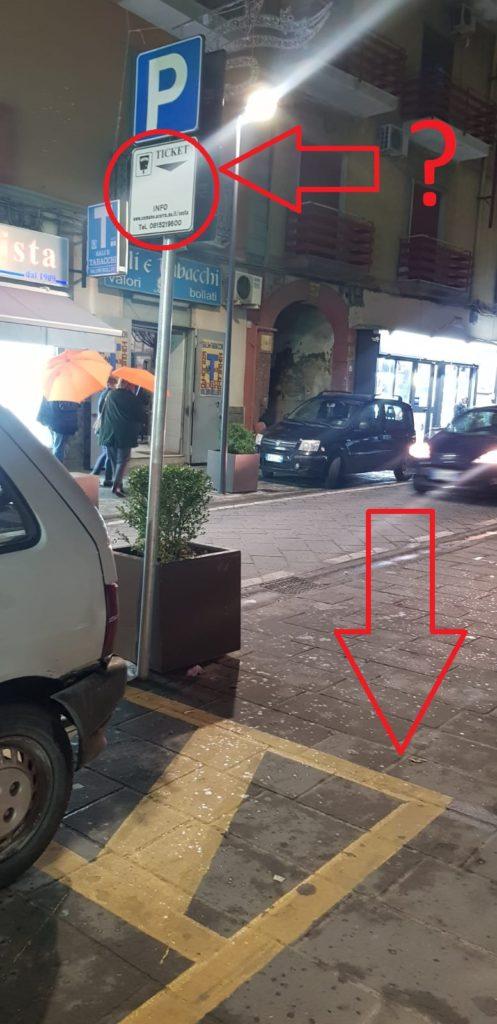 segnaletica scomparso segnale parcheggio diversamente abili